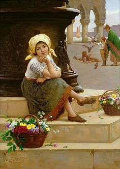 Antonio Paoletti - The Little Flower Seller