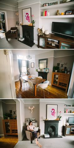 Take A Look Round This Cosy Victorian Terrace With Modern . Sleek Modern Interiors Of A Victorian Terrace House In Fulham. Home and Family Living Room Carpet, New Living Room, Interior Design Living Room, Home And Living, Living Room Designs, Living Room Decor, Dining Room, Dado Rail Living Room, Interior Livingroom