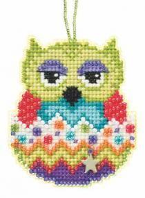 Kiwi Beaded Charmed Cross Stitch Kit Mill Hill 2015 Owlets - $5.99