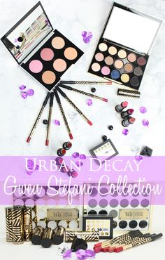 Urban Decay Gwen Stefani Makeup Collection. The collection includes an eyeshadow palette, a blush palette, lipsticks, lip pencils, and a brow box. The blush palette is amazing!