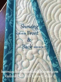 Karen's Quilts, Crows and Cardinals: Tutorial - Mitered and Flanged Machine Binding Más Free Motion Quilting, Quilting Tips, Quilting Tutorials, Quilting Projects, Quilting Designs, Sewing Tutorials, Beginner Quilting, Hand Quilting, Machine Binding A Quilt