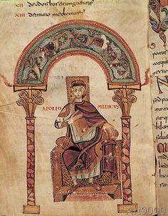9. Jahrhundert - Apollo Medicus / Buchmalerei 8./9.Jh.