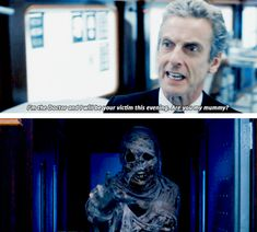 """Are you my mummy?"" --- definitely caught that golden reference :D #doctor #who #s8"
