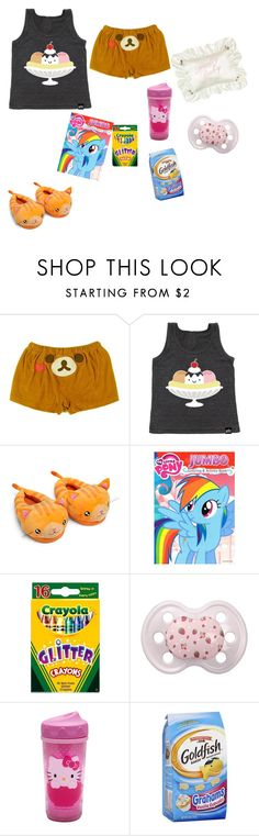 """""""Sleepy"""" by zozo-chan ❤ liked on Polyvore featuring My Little Pony and Hello Kitty"""