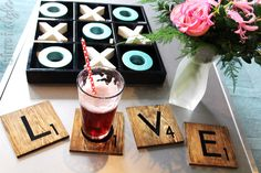 {five minute friday} Valentine's Scrabble Coasters | Blue i Style