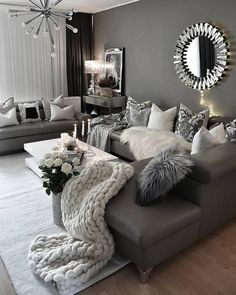 30 Best Photo of Room Decor Ideas . Room Decor Ideas Cosy Living Room Decor Ideas Popsugar Home Australia Cosy Living Room Decor, Glam Living Room, Cozy Living Rooms, New Living Room, Living Room Interior, Apartment Living, Cosy Room, Cosy Decor, Gray Room Decor