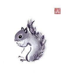 sumi-e Squirrel 2