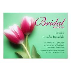 Mint Green and Fuchsia Bridal Shower Invitation. Easy to personalize online. This invitation can be used for any other occasion. #bridal #party #invitation