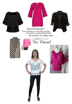 Inverted Beauty: When You Are Larger On The Top try these styles to minimize and bring balance to your strong athletic figure! #invertedtriangle angelabsimmons.com