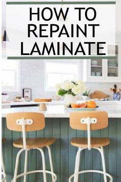 How to Paint Laminate Cabinets – Painted Furniture Ideas Painting laminate requires that a few things be done correctly or you will run into problems. Learn more about how to paint laminate correctly. Painting Laminate Cabinets, Laminate Furniture, Laminate Countertops, Kitchen Furniture, Painted Furniture, Kitchen Laminate, Primitive Furniture, Diy Interior, Interior Design
