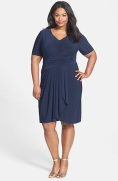 Adrianna Papell Ruched Waist Matte Jersey Dress (Plus Size) available at #Nordstrom