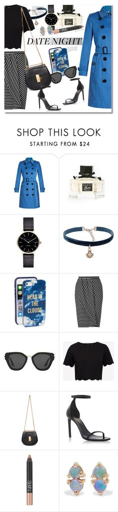 """""""Date & Night"""" by vkmd ❤ liked on Polyvore featuring Burberry, Gucci, Myku, Natalie B, Kate Spade, Miss Selfridge, Prada, Ted Baker, Chloé and Yves Saint Laurent"""