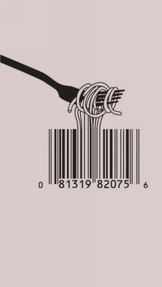 The graphic design makes it an excellent illustration (in its literal meaning). The message makes it a brilliant illustration (in its figurative meaning): the illustration of mass consumption in its purest form. Graphic Art, Graphic Design, Barcode Design, Barcode Art, Logo Design, Barcode Tattoo, Web Design, Smart Design, Graphic Shirts