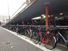 You know you're in Holland when there's more bikes than people, station Groningen (september 2013).