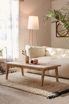 Urban Outfitters Caroline Washed Wood Coffee Table | Scandinavian Interior Design | #scandinavian #interior