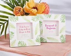 Pretty Palms Design Photo Frame / Place Card Holder for Tropical Wedding #tropicalwedding #palmtree
