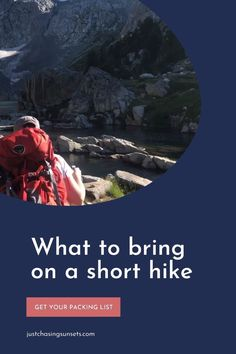 Are you planning a day hike? Do you know what short hike essentials should be in your day hike backpack? Click to get the complete day hike packing list. It's important to be prepared when hiking, and this post will help! Plus download the free short hike packing list so you can check off the essentials. Hiking Gear, Hiking Backpack, Hiking Essentials, Best Hikes, Do You Know What, Day Hike, Solo Travel, Around The Worlds, Bring It On