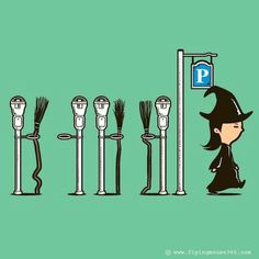 ☆ Witchy Humor: Parking Meter :→: Artist Chow Hon Lam ☆