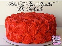 Comment Pipe Rosettes Sur Un Gâteau - sweet Lily - Gateau Cake Decorating Roses, Creative Cake Decorating, Cake Decorating For Beginners, Cake Decorating Techniques, Cake Decorating Tutorials, Creative Cakes, Cookie Decorating, Decorating Ideas, Buttercream Rosette Cake