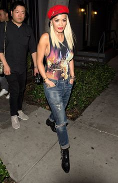 Rita Ora Shows How to Wear a Swimsuit at Night