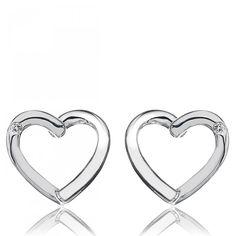 Heart Silver Diamond Earring - Hot Diamonds