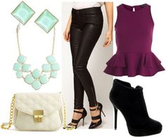 Class to Night Out: Leather Look Jeans - College Fashion