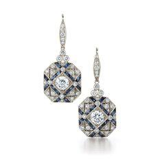 Art Deco Earrings, Art Deco Jewelry, Modern Jewelry, Vintage Earrings, Vintage Jewelry, Fine Jewelry, Jewelry Design, Stud Earrings, Jewellery Earrings