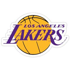 Los Angeles Lakers Basketball Sticker Stickers featuring millions of original designs created by independent artists. Decorate your lapto. Tumblr Stickers, Phone Stickers, Cool Stickers, Printable Stickers, Stencil Stickers, Image Stickers, Los Angeles Lakers Logo, Homemade Stickers, Typography Logo