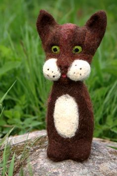Felted Cat (DIY Inspiration)