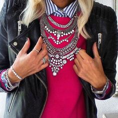 Glamorous Over The Top Statement Necklace @happinesboutique.com