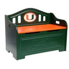 University of Miami Hurricanes Kids Furniture Storage Toy Bench