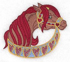 Adorable Ideas Embroidery Design: Carousel Horse 3.18 inches H x 3.69 inches W