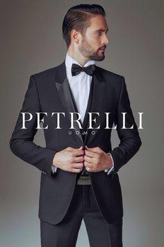 Collezione 2015 nuovo smoking petto incollato Petrelli Uomo
