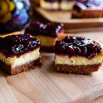 Blackberry Cheesecake Squares by Ree Drummond / The Pioneer Woman, Not actually grain-free. Use this idea w/ the no-bake cheesecake recipe Köstliche Desserts, Delicious Desserts, Dessert Recipes, Yummy Food, Ree Drummond, Yummy Treats, Sweet Treats, Blackberry Cheesecake, Blackberry Cobbler
