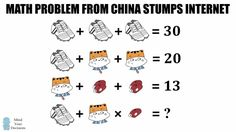 Math Problem From China Stumps Internet – Shoes, Cat, Whistle Puzzle Explained Systems Of Equations, Logic Puzzles, Picture Puzzles, Math Problems, Fun Math, Mathematics, Homework, Dots, Internet