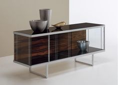 The Broadway Low Sideboard & Display Unit is a glass storage and display furniture of supreme quality by Tonelli design. Glass Sideboard, Low Sideboard, Glass Dresser, Modern Sideboard, Sideboard Cabinet, Credenza, Modern Bookcase, Glass Furniture, Cool Furniture
