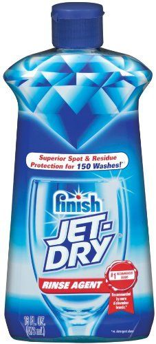 Finish Jet-Dry Rinse Agent, Liquid, 16 Ounce by Finish Jet Dry. $7.56. Amazon.com Product Description JET-DRY Rinse Agent LiquidRinses away leftover food and detergent residuesResults in drier, shinier dishes**Automatically releases in the rinse cycleBiodegradable and safe for septic systems**vs. detergents aloneSuperior Spot and Residue Protection for Sparkling Dishes**Food and detergent residues can redeposit on dishware during the rinse cycle, causing spots to rema...