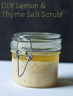 DIY Lemon and Thyme Salt Scrub