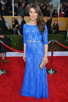 Mayim Bialik (Amy Farrah Fowler from The Big Bang Theory) what a change from her nerdy alter ego!