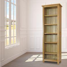 Tall Narrow Oak Bookcase