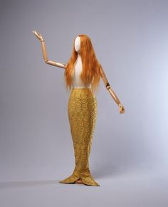 Mermaid tail and human hair wig used by Annette Kellerman from the Powerhouse Museum collection.
