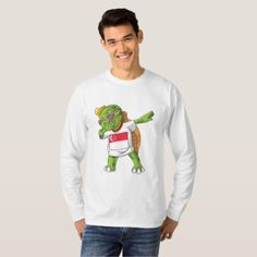 #Singapore Dabbing Turtle T-Shirt - diy