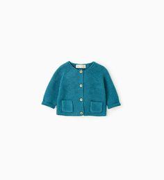 Image 1 of Knit cardigan with pockets from Zara