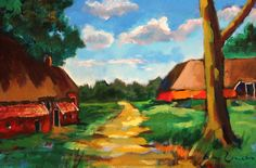 Gasselte, Arie Zuidersma Expressionist Artists, Art Case, Dutch Painters, Holland, Sky, Landscape, Abstract, Painting, Beautiful