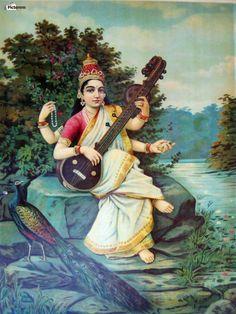 Saraswati , Raja Ravi Varma ,