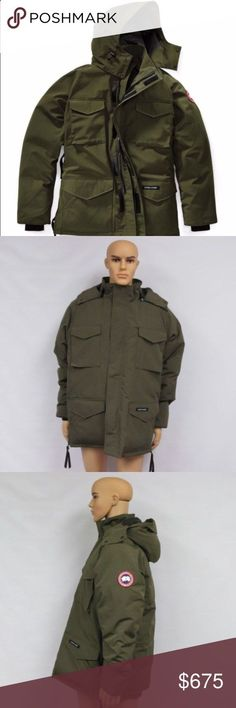 Authentic MENS Canada Goose Parka size L Authentic Canada Goose Constable Parka in Military Green, size LARGE. In pristine like new condition! $550 on 🅿🅿 Canada Goose Jackets Coats