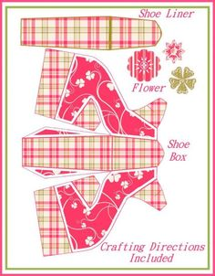 high heel paper shoe template   ... - Cottage Chic High Heel Shoe Favor Boxes (Powered by CubeCart