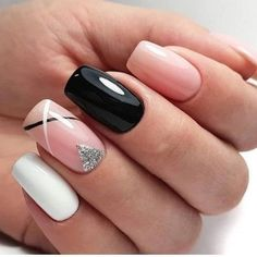33 Natural Acrylic Black Almond & Square Nail Designs For Short Nails Nails Art Ideas Square Nail Designs, Black Nail Designs, Short Nail Designs, Nail Art Designs, Stylish Nails, Trendy Nails, Cute Acrylic Nails, Cute Nails, Cute Short Nails