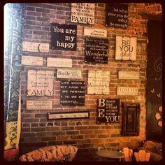 Sign wall