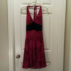 B. Darlin Red and Black Floral Dress Size 5/6 B. Darlin red dress with black floral design. 92% Polyester, 8% spandex. B. Darlin Dresses